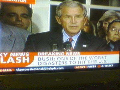 Bush: one of the worst disasters to hit the US
